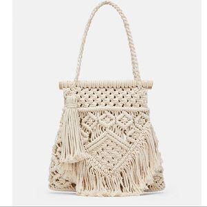 ZARA Fabric Shopper Bag